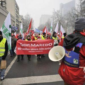 Maredo-Arbeiter_innen am 23. Januar 2013 in Brüssel