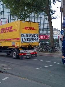 DHL-Fahrer-Protest in Köln