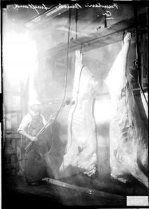 Chicago 1909, Arbeit im Schlachthof (Quelle: Wikicommons)