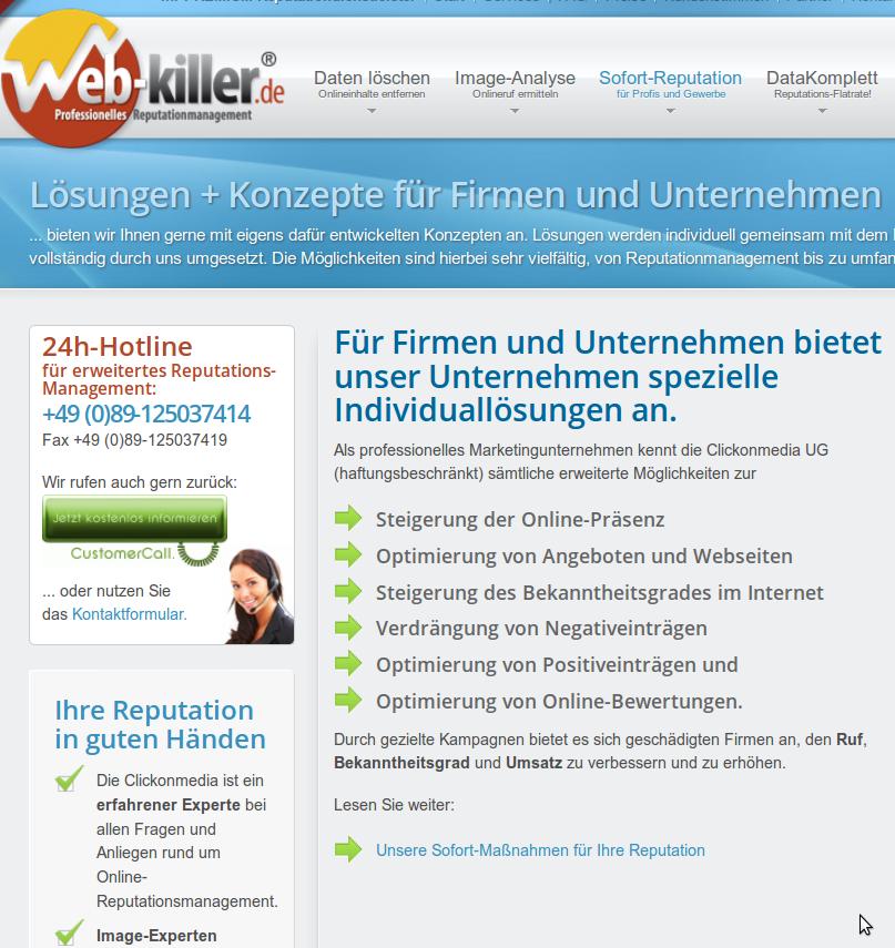 Web-Killer: Maulkorb-Agentur im Dienste von Unternehmern