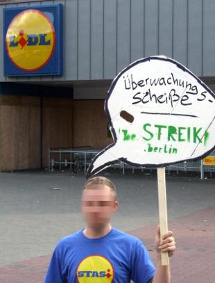 Lidl: Protest gegen Überwachung