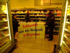 Schutzwall gegen Union-Busting Quark in Stuttgart