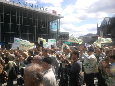 GDL-Kundgebung in Köln