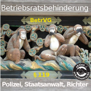 Betriebsratsbehinderung Drei Affen
