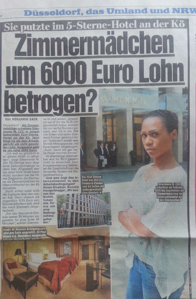 Bild-Düsseldorf berichtet über Lohnraub im InterConti