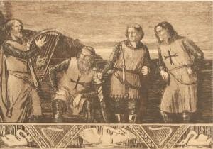 Was schon 1096 gute Geschäfte versprach, zieht auch heute noch. Wie bei den Kreuzügen sollen auch in Malteser-Krankenhäusern vorgeblich religiöse Gefühle und ein starker Drang sich in Nächstenliebe zu die Feder des Antriebs sein. heißt nicht, dass zu Vermeidung von Steuern und um Löhne zu drücken, keine Service-Gesellschaften gründen könnte. (Radierung von Emils Krupa (gest. 1924), gemeinfrei, Wikicommons)