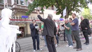 Protest gegen Union Busting bei Weingarten in Köln