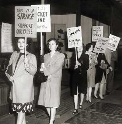 Oder solche: Oakland Generalstreik, Kalifornien 1946.