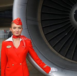 TUIfly-Streik Bild Aeroflot-Stewardess Turbine