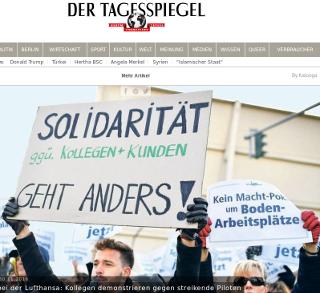Lufthansa-Streik: Union Scabs und Lehre der Leere