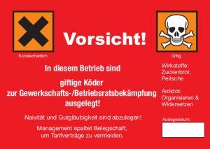 aktiion-gegen-arbeitsunrecht Aufkleber Vorsicht Giftköder!