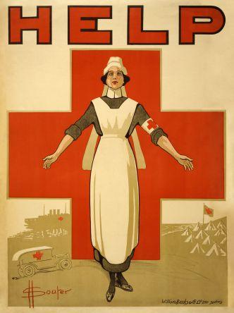 Pflege, Pflegenotstand, Australisches Platkat aus dem Ersten Weltkrieg zur Rekrutierung von Krankenschwestern