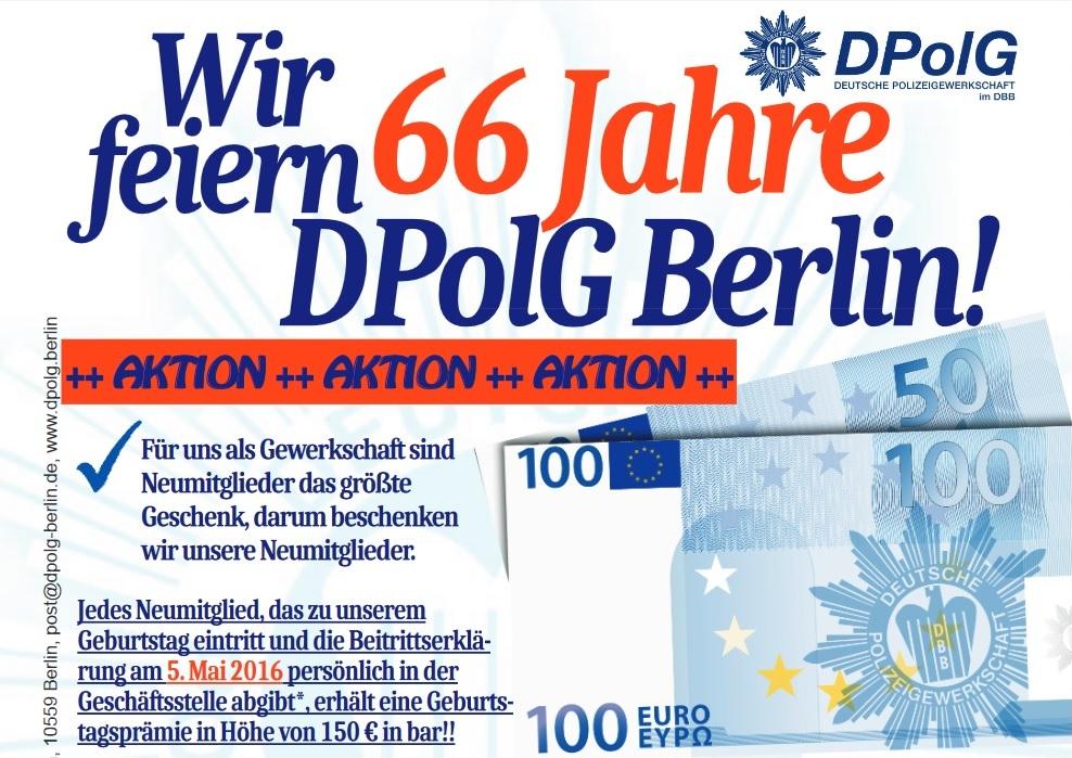66 Jahre DPolG in Berln