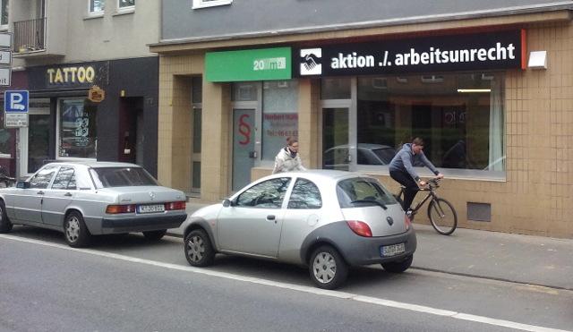 Büro der aktion./.arbeitsunrecht in Köln-Sülz, Luxemburger Str. 176
