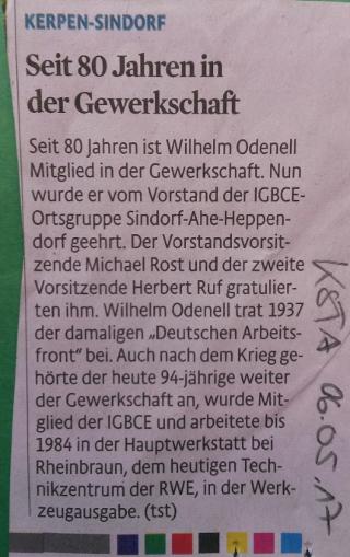 Deutsche Arbeitsfront als Vorgänger der IG BCE?