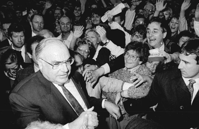 Helmut Kohl am 16.9.1990 in Dresden