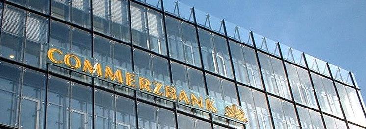 Commerzbank-Logo auf Glasfassade