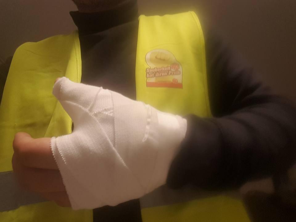Gewaltätige Klüh-Security gegen Reinigungskräfte