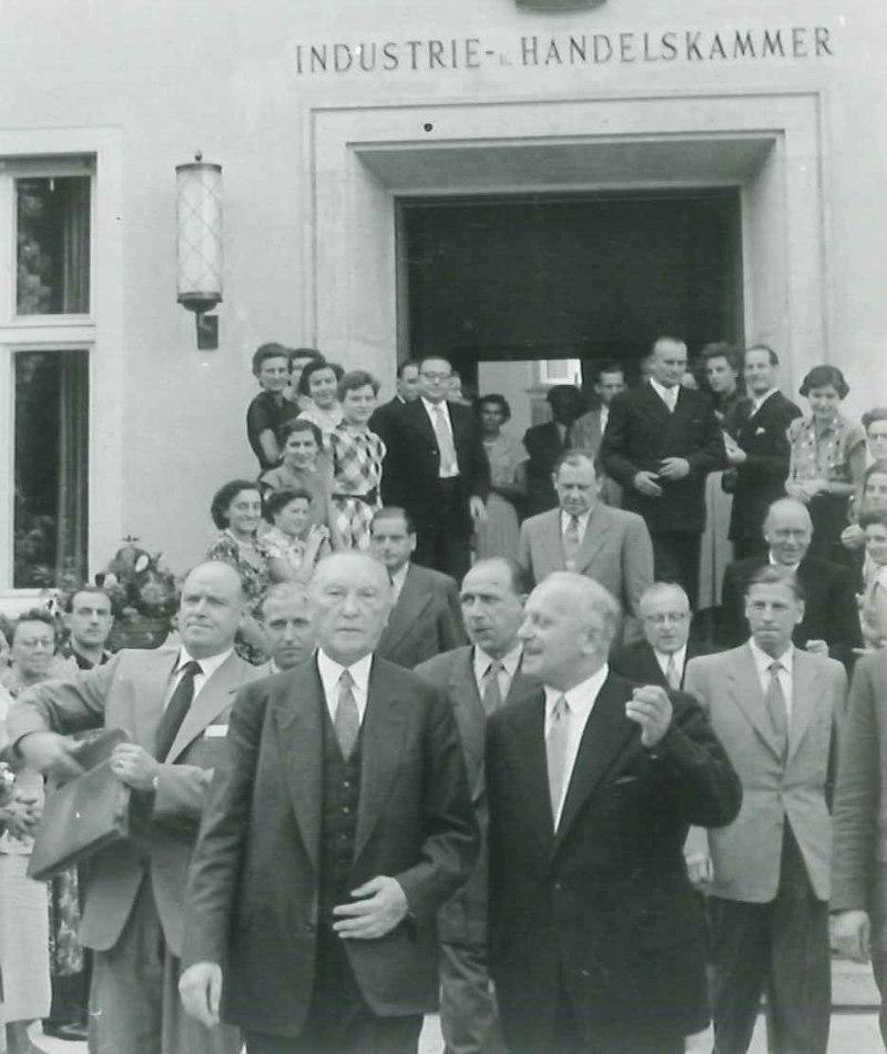IHK Regensburg Konrad Adenauer 1953