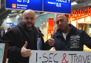 I-SEC Betriebsrat Protest am Frankfurter Flughafen
