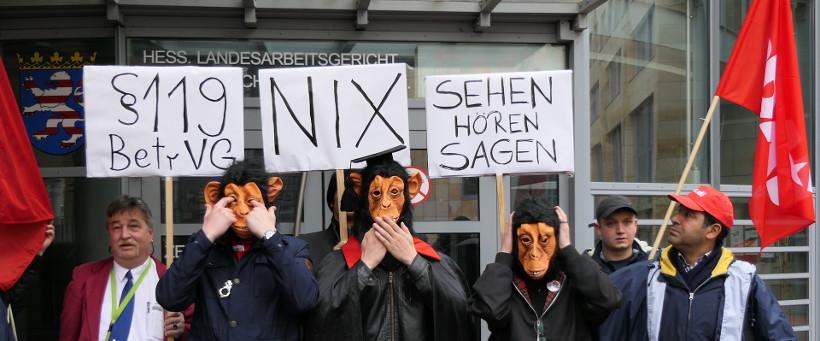 Union Busting durch I-SEC & Naujoks: Demo gegen Straflosigkeit in Frankfurt