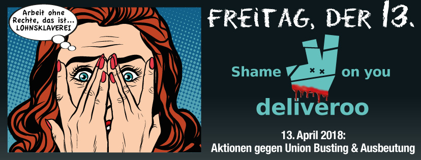 Deliveroo: Aktionstag am Freitag, 13.