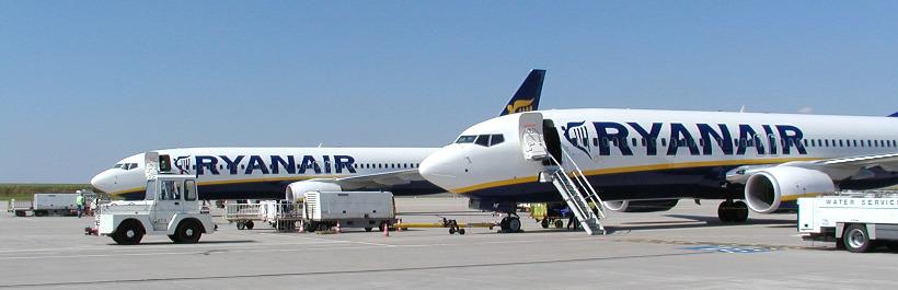 Ryanair-Jets am Flughafen Hahn