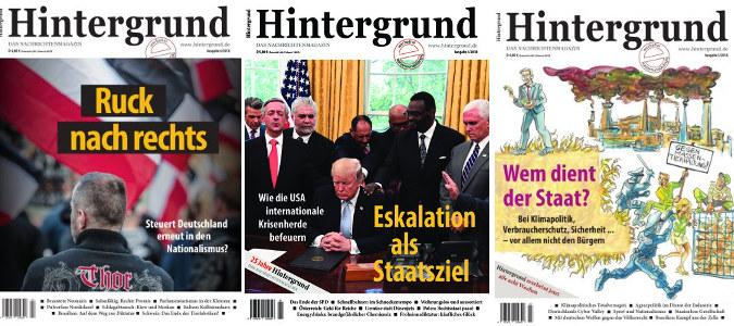 Jetzt Mitglied werden. Drei Ausgaben des Nachrichtenmagazins Hintergrund erhalten.