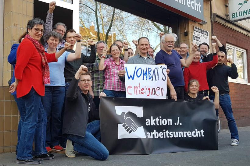 Wombats enteignen. Solidarität der aktion ./. arbeitsunrecht
