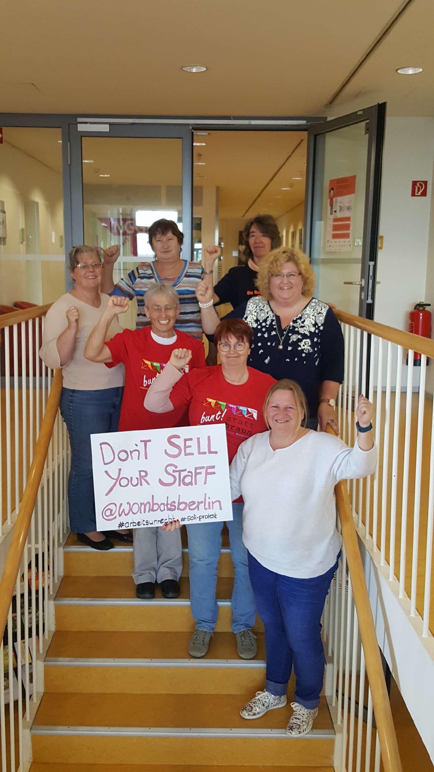 Solidaritätsbild der NGG-Frauen Bayern - Landesbezirksfrauenausschuss