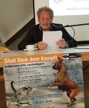 Dr. Werner Rügemer, Fachkonferenz aktion ./. arbeitsunrecht e.V.