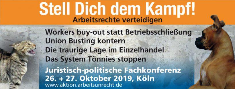 2. juristisch-politische Fachkonferenz - Stell Dich dem Kampf Facebook-Banner