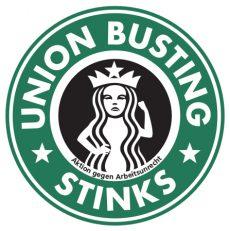 Starbucks Union Busting Stinks Aktion gegen Arbeitsunrecht
