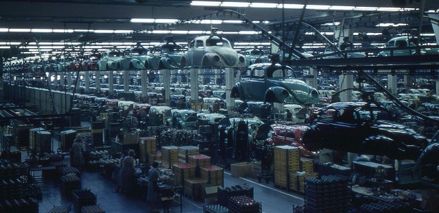 VW Wolfsburg Fließband 1960