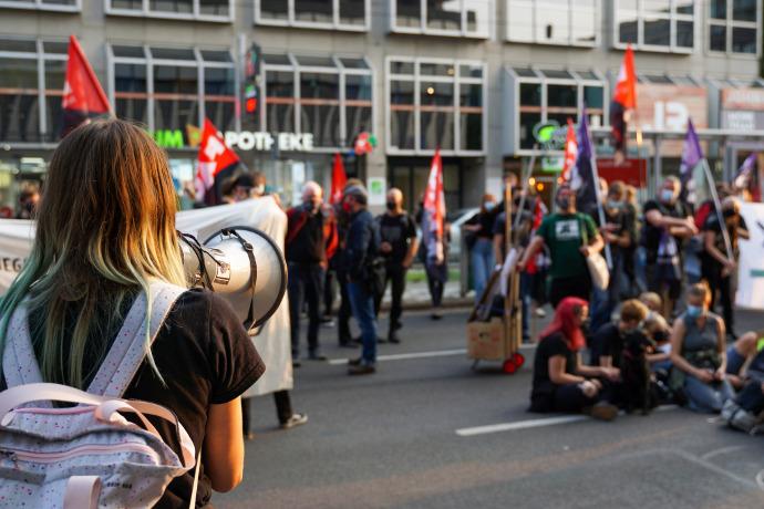 Demo Düsseldorf, 11.9.2020