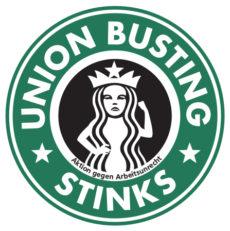 Zornige Meerjungfrau: Union Busting stinkt / Mag Kaffee // nicht von Starbucks. Konsum-Streik