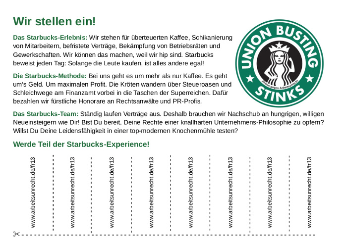 Starbucks Union Busting stinks!