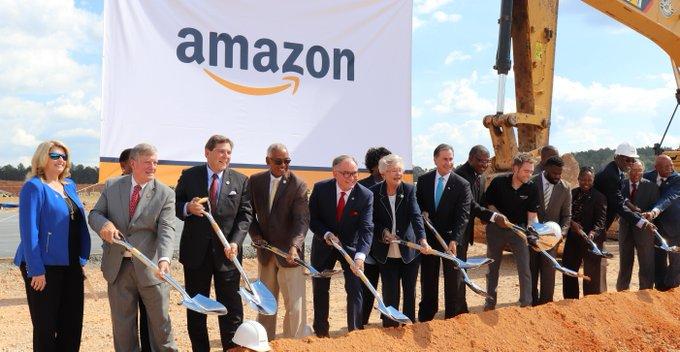 3.10.2018. Spatenstich für das Amazon-Lager in Bessemer, Alabama