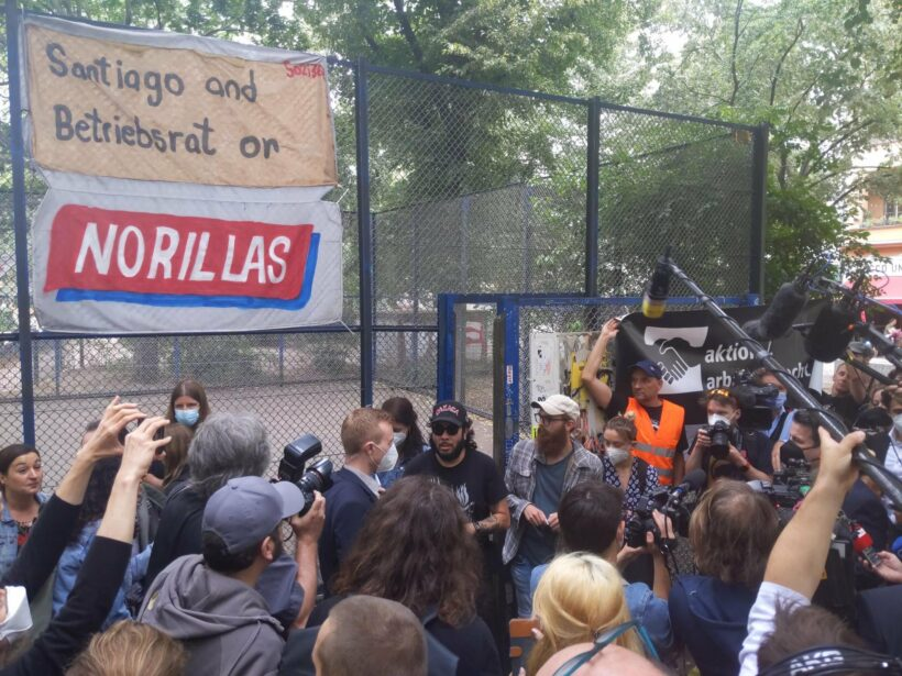 Santiago and Betriebsrat or NORILLAS. Arbeitsminister Heil in Berlin