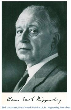 Hans Carl Nipperdey Portrait mit Unterschrift