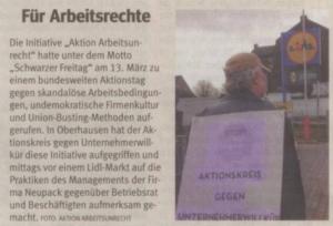 150313 neupack Artikel WAZ OB Schwarzer Freitag AKUWILL 21-03-2015