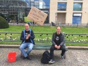 Aktion gegen Arbeitsunrecht Berlin#1Mai2020