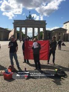 Aktion gegen Arbeitsunrecht BerlinRede Vorstandsmitglied André Koletzki #1Mai2020