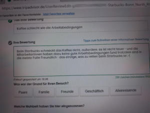 #Freitag13 #Starbucks Bewertung Tripadvisor