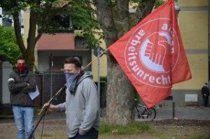 Köln Kalk Rede Elmar Wigand, Pressesprecher Aktion gegen Arbeitsunrecht #1Mai2020 #unteilbarsolidarisch