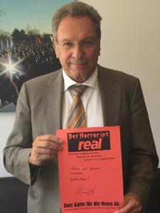 Rote Karte Klaus Ernst, Die LINKE