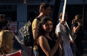 #Wombats Demonstration gegen Unternehmerwillkür, Union Busting und Auslagerung (Bild Yakamo)